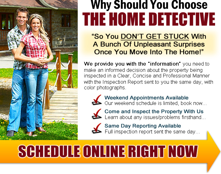 "Why should you choose The Home Detective for your Seattle home inspection? So you don't get stuck with a bunch of unpleasant surprises once you move into the home! We provide you with the ""information"" you need to make an informed decision about the property being inspected in a clear, concise, and professional manner with the inspection report sent to you the same day, with color photographs. Weekend appointments available. Our weekend schedule is limited. Book now. Come and inspect the property with us. Learn about any issues/problems firsthand. Same day reporting available. Full inspection report sent the same day. Schedule online right now"